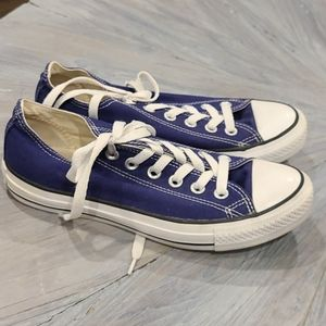 Converse blue all star sneakers